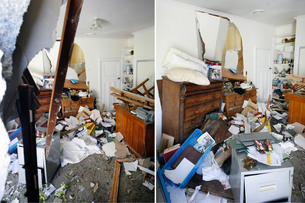SUDDEN ARRIVAL: A car crashed through a King St house in Waimate early yesterday morning.
