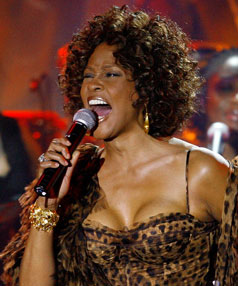 STILL A FAVOURITE: Whitney Houston's I Will Always Love You has been voted the most popular love song