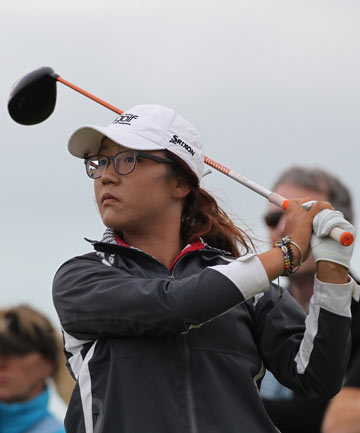 STARTING OUT: Lydia Ko tees off during the first round of the Women's New Zealand Open at Clearwater.