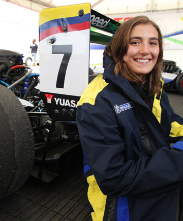 NOT JUST MANFIELD: Tatiana Calderon wants to be the first woman to win a race in Formula One and says a win in the NZ Grand Prix is the next step.