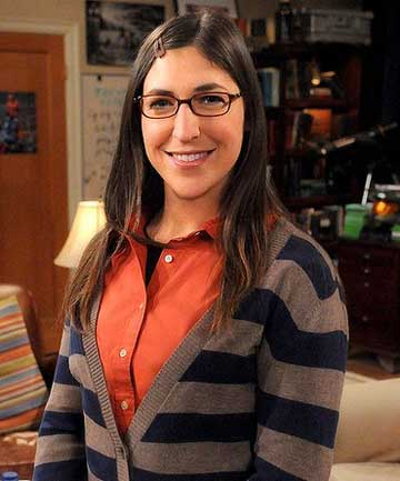 ATTACHED PARENT: Mayim Bialik, who plays Amy Farrah Fowler in The Big Bang Theory, is an advocate of attachment parenting.