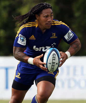 BIG SIGNING: Ma'a Nonu made his debut for the Highlanders against the Crusaders in Oamaru.