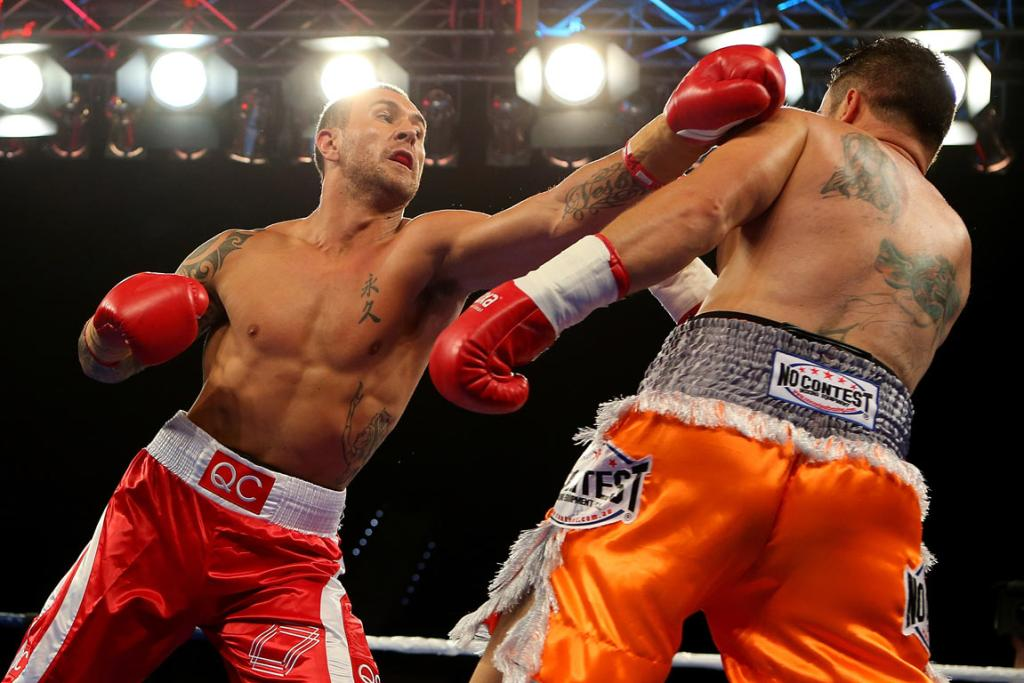 Quade Cooper needed just one round to knockout opponent Barry Dunnett.
