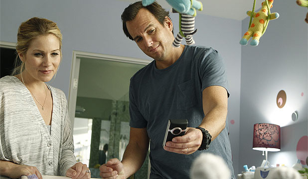 UP AND OUT: Christina Applegate and her Up All Night co-star Will Arnett.