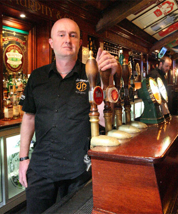 OUT AND ABOUT: JJ Murphy's bar manager Blair MacTaggart says a one-way door policy for Wellington bars would limit choice for patrons and make it harder to cater for specific events.
