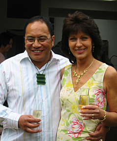 "James Daniels with third wife, Diane, who he says benefits from ""the fact that I've finally figured out how to love a woman""."
