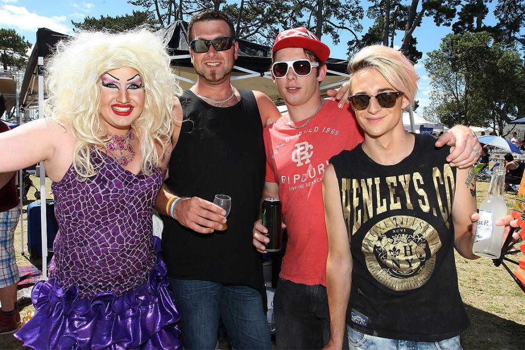Summer Salt, Glen Bason, John Stanaway and Todd Fisher at the Big Gay Out.