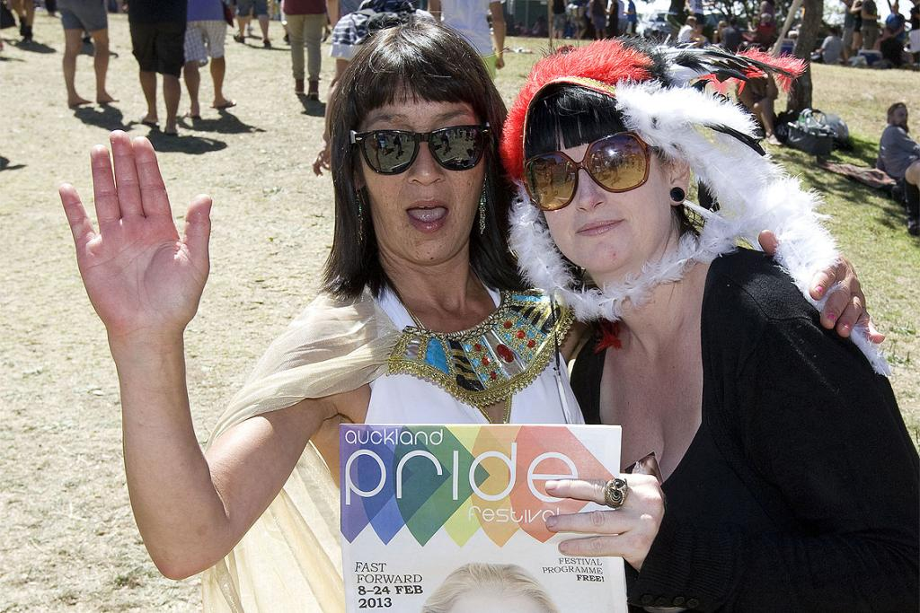 Tanya Hofmann and Melissa Cunningham at The Big Gay Out.