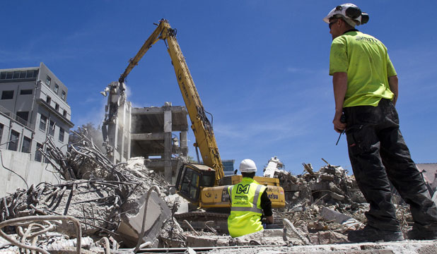 """From the ashes: """"We've had a number of overseas construction  companies coming to meet us'' says Colliers International Christchurch managing director Hamish Doig."""