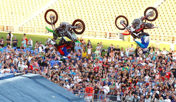 OVERPRICED FOOD: A Waikato mother says Waikato Stadium engaged in 'blatant profiteering' by charging expensive prices for food during the Nitro Circus event.