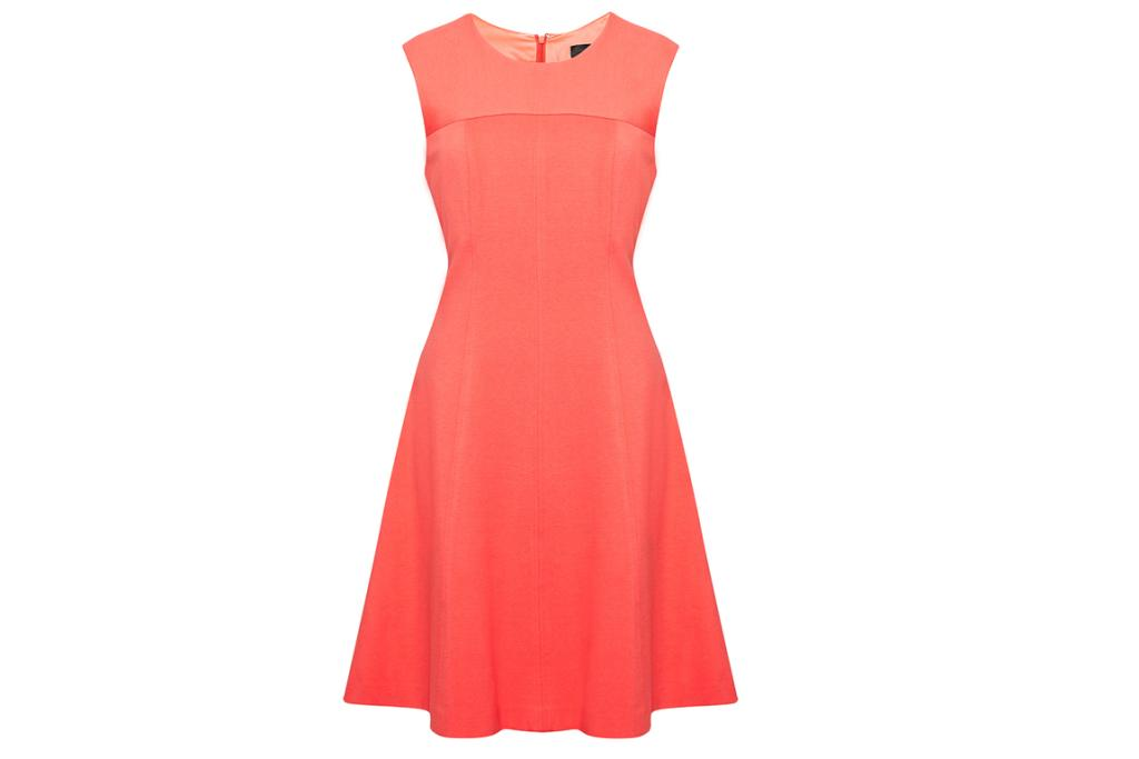 David Lawrence, $250: A-line sixties-inspired dresses are really flattering on pear shapes. The full skirt skims over any problem areas, and the nipped waist draws the eye upwards towards your shoulders.