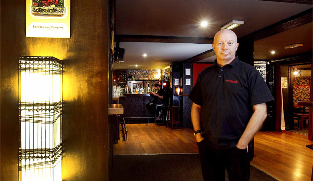 """THE RIGHT STUFF: Dominic Kelly says running his specialist beer bar """"feels a lot more authentic than sitting in an office for an investment bank""""."""