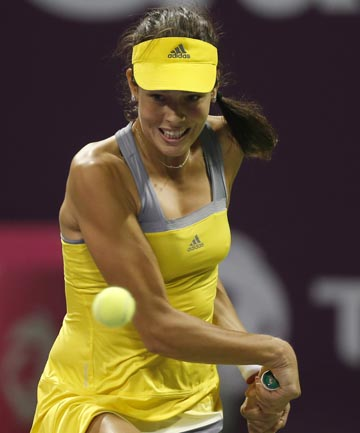 THROUGH: Ana Ivanovic breezed past Tamira Paszek 6-1, 6-2 in the first round of the Qatar Open.