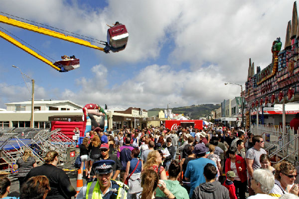 All the fun: The Hutt News Petone Rotary Fair features rides for the kids - and don't bring your lunch, there are plenty of food stalls.