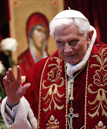 STANDING DOWN:  Pope Benedict will resign on February 28.