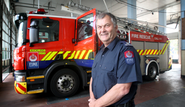 FIERY FOCUS: Russell Dickson is a fire risk management officer for the New Zealand Fire Service.