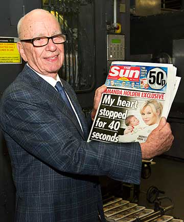 BYE, BYE MELLISA FROM KENT? Media mogul Rupert Murdoch considers covering up the topless Page 3 girls in Britain's best-selling tabloid Th Sun.