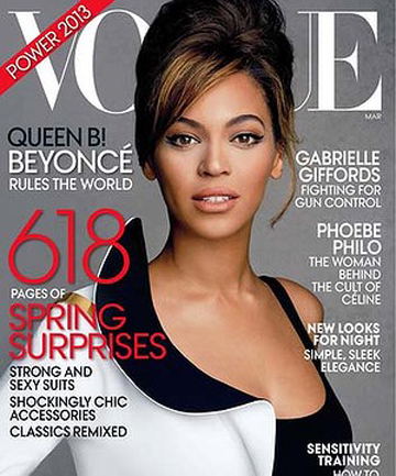COVER GIRL: Beyonce Knowles on the cover of Vogue.