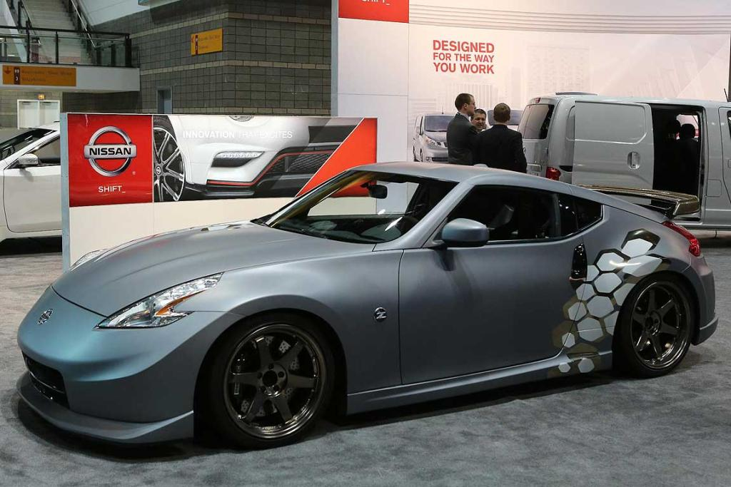 A standard Nissan 370Z at the Chicago Auto Show.
