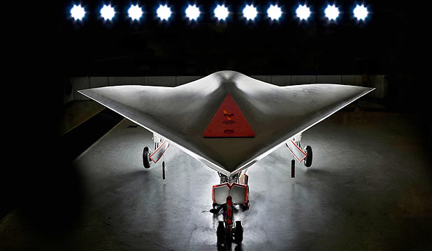 DRONE ON: The United States' military's new Taranis stealth Unmanned Aerial Vehicle.