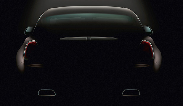 Rolls-Royce's second shadowy teaser pic of its latest model, the Wraith.