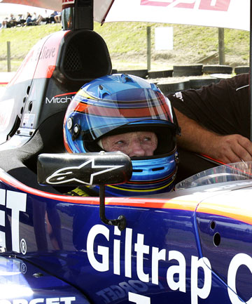 NERVES OF STEEL: Kenny Smith on the grid before the NZ Gand Prix at Mansfiel last Sunday.