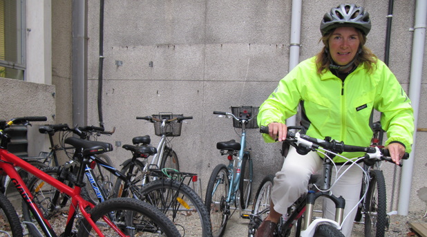 ON HER BIKE: South Canterbury Bikewise co-ordinator Stacey Day is cycling for good health and the environment.