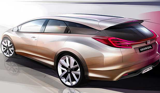 The Honda Civic concept wagon.