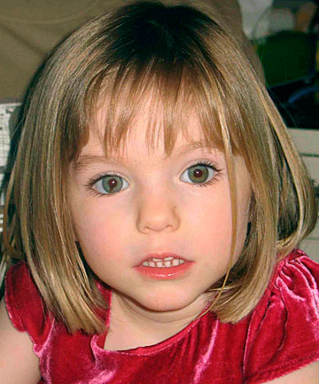 Madeleine McCann, aged three