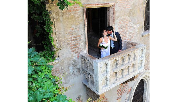 WHERE ART THOU? Juliet's House, Verona. The Casa de Giulietta throngs with tourists ken to capture their Romeo moment.