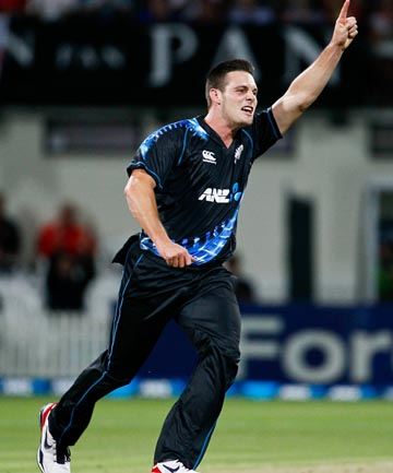 MITCHELL MCCLENAGHAN: The Black Caps' find of the summer.