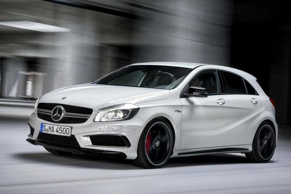 Mercedes-Benz's hot new hatch, the A45 AMG.