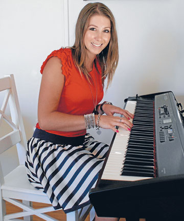 Key to success: Elizabeth Marvelly writes most of her songs on this piano.