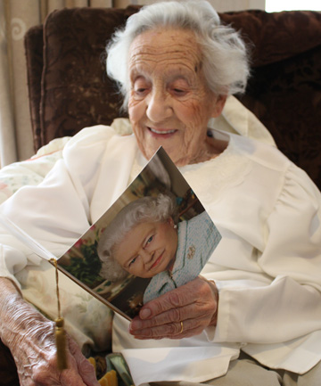 Fay Sharp, 100, was thrilled to receive a card from the Queen on her birthday.
