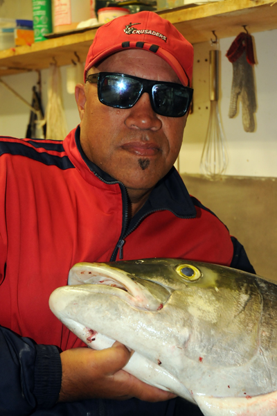 The one that did not get away: Richard Tetau is going to mount the head of a 25kg kingfish he caught in Eastbourne.