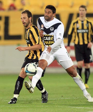 FOE TO FRIEND: Carlos Hernandez in action for the Victory against the Phoenix in 2009.