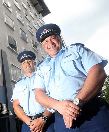 Senior Sergeant Joe Tipene and Constable Jackie Simeon
