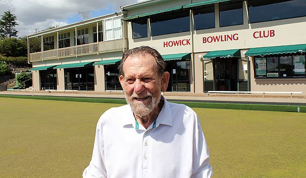 BOWLING FANATIC: Jack Banks, 92, forgets the score of his game as soon as he steps off the green but never forgets the fun. Or the women.