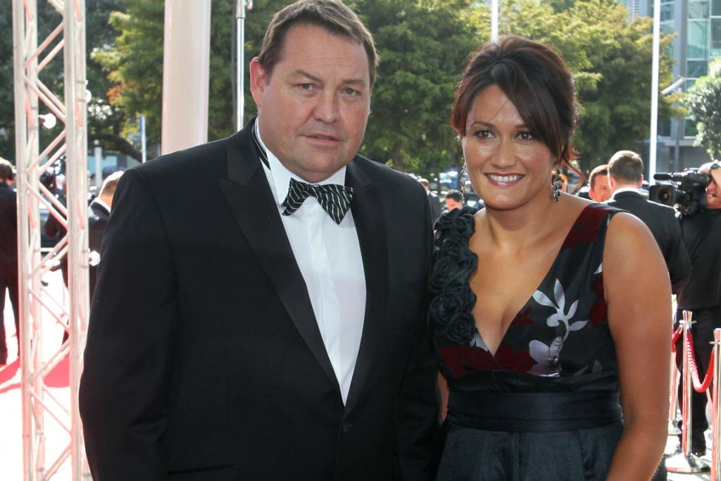 All Blacks coach Steve Hansen and wife arrive at the 2013 Halberg Awards at Vector Arena in Auckland.