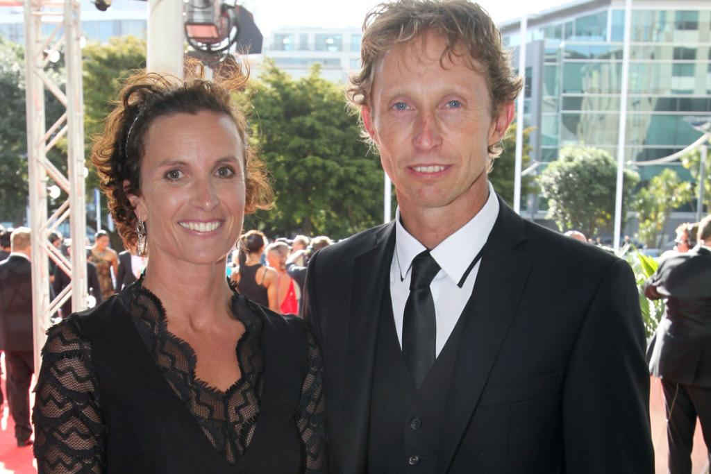 Hamish Carter and wife Marisa at the 2013 Halberg Awards at Vector Arena in Auckland.