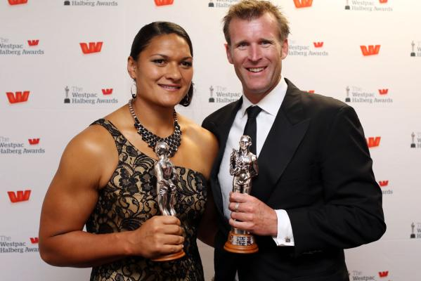 Valerie Adams and Mahe Drysdale