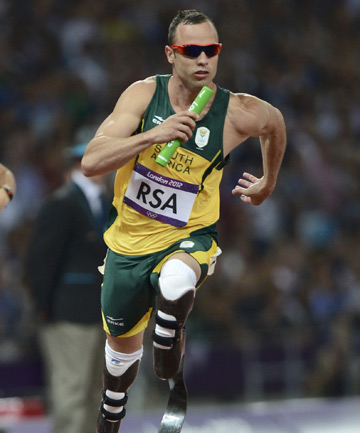 """BLADE RUNNER"": Oscar Pistorius was the first double amputee to run in the Olympics and reached the 400 metre semifinals in London 2012."