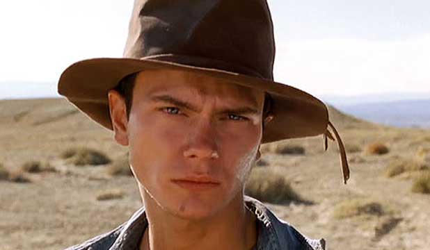 RISING AGAIN: River Phoenix in a scene from the film Dark Blood.