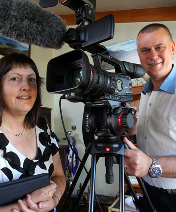 In the picture: Since starting their business TimePulse Videography six months ago, owners Barbara and Henry Dijkstra have been inundated with requests from Marlborough businesses wanting short promotional videos for their websites.
