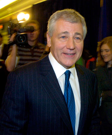 STUMBLING BLOCK: Former Republican Senator Chuck Hagel has been named as the new US defence secretary. But voting for his nomination has been blocked by Republicans in the Senate.