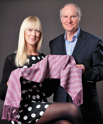 ALL THAT GLITTERS: Wealthy buyers are the focus for a golden fleece developed by Professor Jim Johnston and Dr Kerstin Lucas of Victoria University.