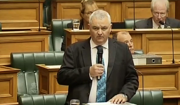 NZ First MP Richard Prosser in Parliament: He wrote in a magazine article that young Muslim men shouldn't be allowed to fly on western airlines.