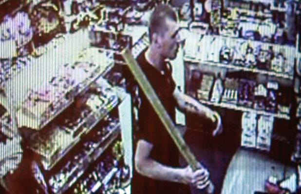 CCTV: Footage of the man who robbed an Ilam dairy last night.