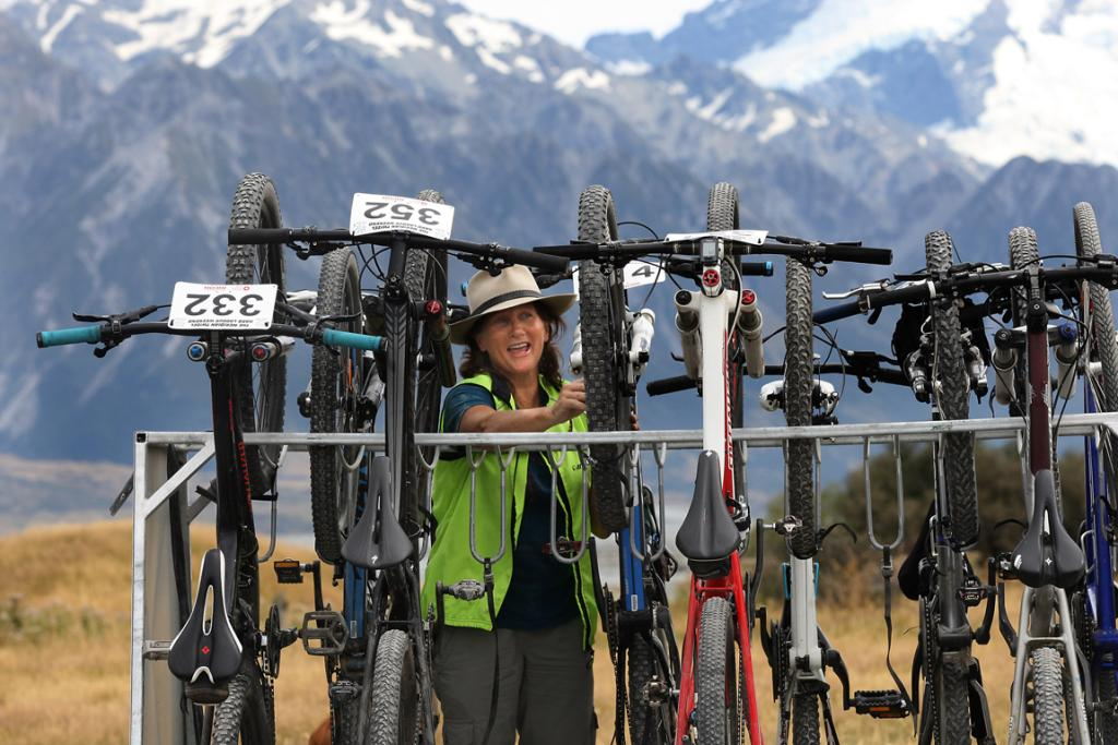 TYRES SPARED: Jill Jenkins, of Cycle Journeys, loads bicycles for riders not wanting to ride the shingle road between Braemar Station and the Tekapo B power station.