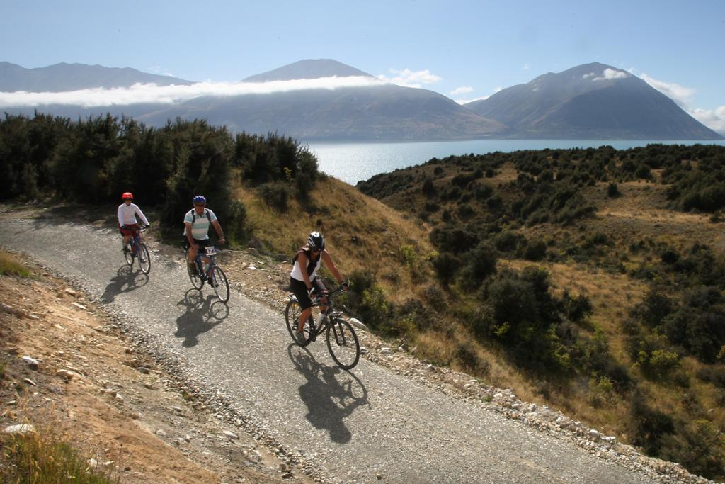 FREE WHEELING: Cyclists take on the Alps 2 Ocean Cycleway Ohau to Omarama section on its official opening.